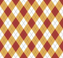 Seamless argyle red and yellow pattern vector