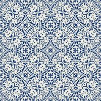 Geometric Blue and White Pattern