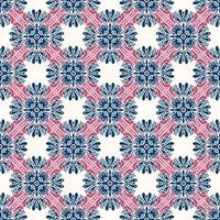 Geometric Blue, White, and Pink Pattern