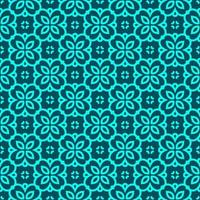 Turquoise and Teal Geometric Pattern