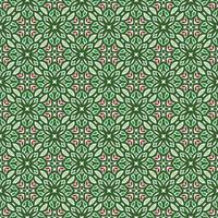 Green, Pink, and Light Green Geometric Pattern