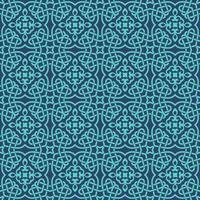 Blue with Aqua Details Geometric Pattern