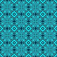 Turquoise and Dark Blue Geometric Pattern