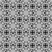 White and Black Geometric Pattern