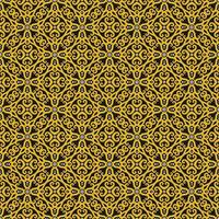 Yellow, Black, and White Geometric Pattern