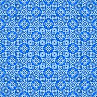 Blue with Light Blue Details Geometric Pattern