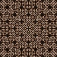Dark Brown with Tan Details Geometric Pattern