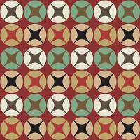Seamless retro circular pattern