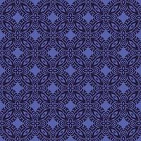 Purple with Navy Details Geometric Pattern
