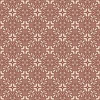 Pink with Maroon Details Geometric Pattern