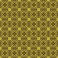 Pea Green and Dark Green Geometric Pattern