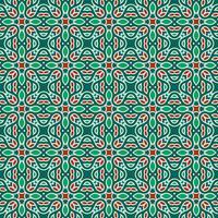 Green and Red Geometric Pattern