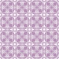 Light Purple with Dark Purple Details Geometric Pattern