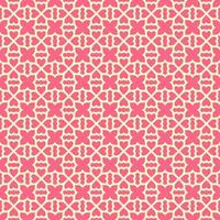 Pink with Lighter Pink Details Geometric Pattern
