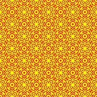 Yellow and Red Geometric Pattern