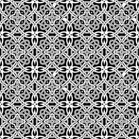 Geometric Black and White Pattern vector