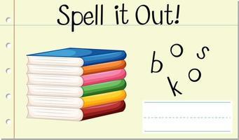Spelling  word scramble  vector