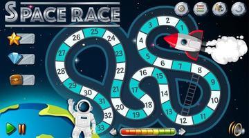 Space Race Brettspiel Vorlage vektor