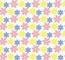 Seamless pastel  flower pattern