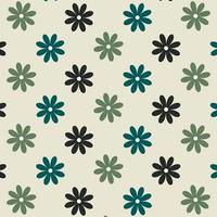 Seamless blue and green flower pattern