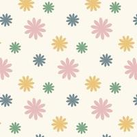 Seamless geometric  flower pattern