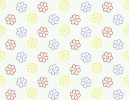 Seamless flower blossom outline  pattern