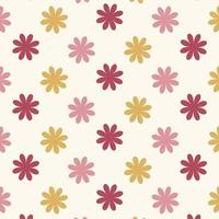 Seamless red and pink  flower pattern