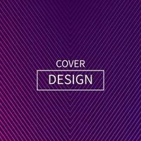 minimaal v-vorm lijn cover ontwerp vector