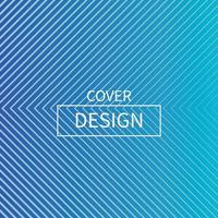 Minimal Blue Triangle Line Shape Cover Design vector