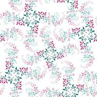 Colorful foliage seamless pattern vector