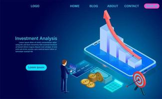 Investment analysis concept vector