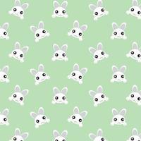 Kawaii White Rabbit Peeking Over vector