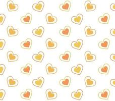 Orange and Yellow Hearts Pattern
