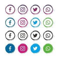 Grunge Outline Social Media Elements