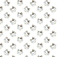 Cartoon Cats with Sweat Drop on Forehead vector