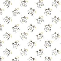 Cartoon Shouting  Cats Pattern vector