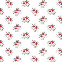 Cartoon Love Cats Pattern
