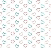 Pink and Blue Outline Hearts Background