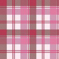 Seamless plaid pattern in pastel pink