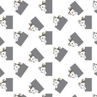Cartoon Cats Peeking Around Corner Pattern