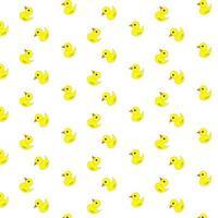 Cartoon Rubber Ducky Pattern vector