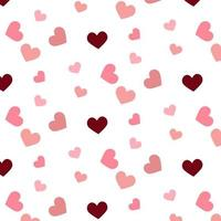 Pink and Burgundy Hearts Pattern
