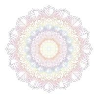 Rainbow Coloured Mandala Design