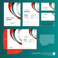 Business Template Set with Curved Shapes
