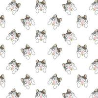 Cartoon Surprised Cats Pattern