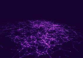 Low Poly Purple Plexus Design Background