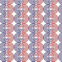 Red and Blue Circle Pattern