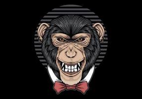 corbata de lazo de chimpancé vector