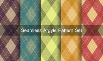 Seamless argyle pattern set. vector