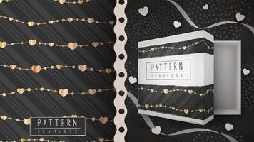 Gold Heart String Pattern